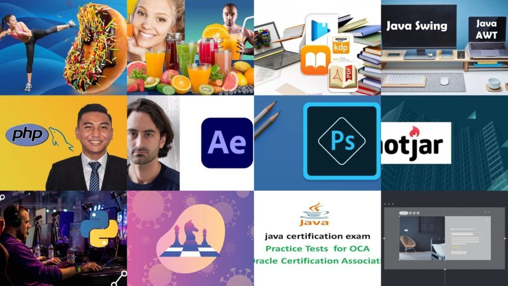 The screenshots of Udemy free coupon courses were captured on August 29, 2020