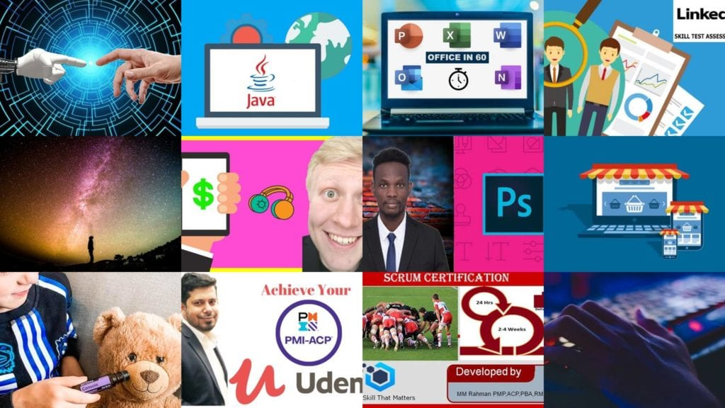 The screenshots of Udemy free coupon courses were captured on August 30, 2020