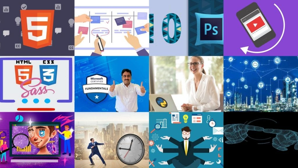 The screenshots of Udemy free coupon courses were captured on December 21, 2020