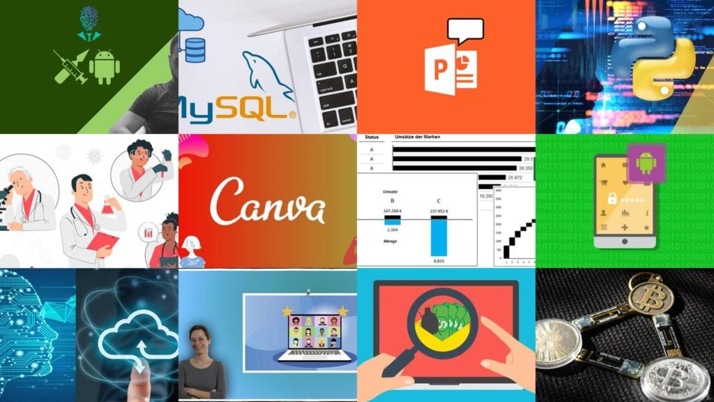 The screenshots of Udemy free coupon courses were captured on February 20, 2021